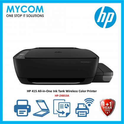 HP 415 All-in-One Ink Tank Wireless Color Printer - Z4B53A
